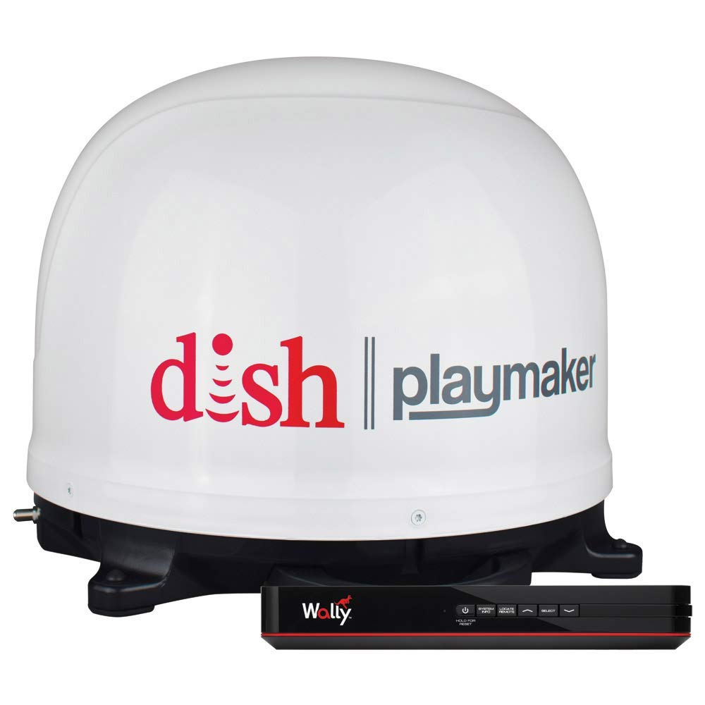 Winegard PL7000R Dish Playmaker Portable Antenna with Wally HD Satellite Receiver Bundle