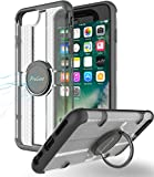 iPhone 8 Plus / 7 Plus Case with Grip Ring Holder, ProCase Multi-function Cover with Rotating Ring Holder Stand for Magnetic Car Mount Holder, Kickstand Case for iPhone 8 Plus / iPhone 7 Plus -Black