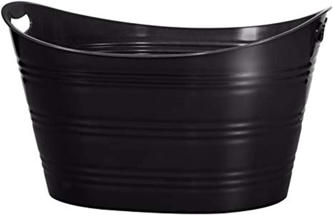CreativeWare, Black Party Tub 8.5 Gl, 8.5 Gallon