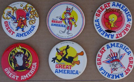 loony-tune-set-of-6-marriotts-great-america-amusment-park-buttons-featuring-bugs-daffy-tweety-taz-yo