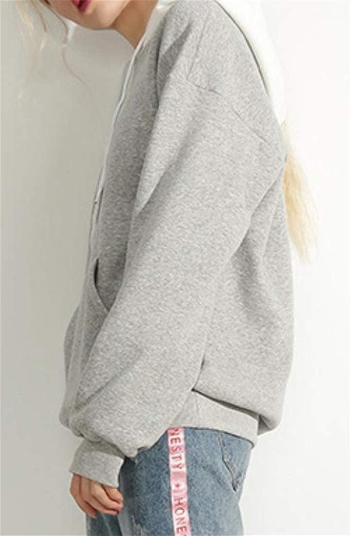 Hajotrawa Women Casual Letters Print Pullover Long Sleeve Sweatshirts