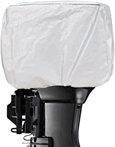 Kayme Outboard Motor Cover Waterproof Sunproof, 4 Layers Heavy Duty Motor Hood Cover, from 60HP to 150HP XXL