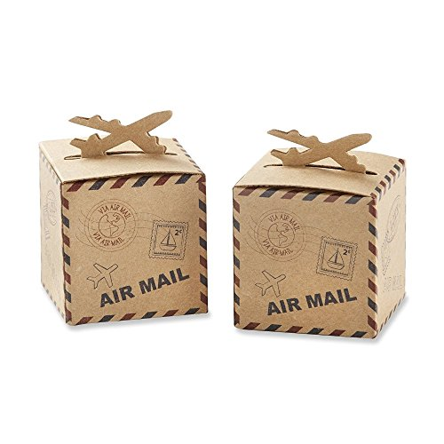 Yalulu 50pcs Mini Airplane Kraft Paper Candy Box Rustic Wedding Favors Candy Holder Bags Wedding Party Gift Boxes by Yalulu