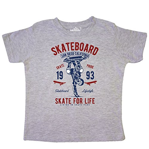 inktastic Skateboard For Life Toddler T-Shirt 3T Heather Grey 2e195