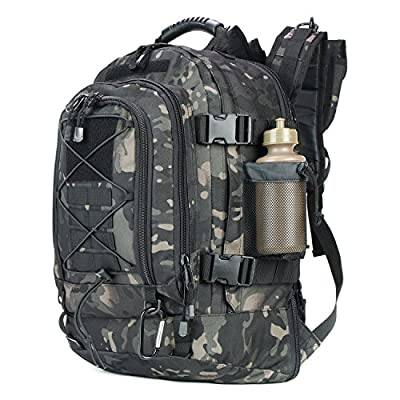 481e0d09ca ARMYCAMOUSA 40L - 64 L Outdoor 3 Day Expandable Tactical Backpack Military  Sport Camping Hiking Trekking Bag School Travel Gym Carrier