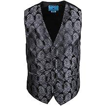 Epoint EGC2B.01 Series Style Patterns Microfiber Black-Back Dress Tuxedo Vest by