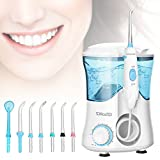 YOHOOLYO Water Flosser, Oral Irrigator,Dental Care for Teeth Braces and Bridges with 8 Jet Tips 600ML Capacity 10 Water Pressure Settings for Family Home and Travel Blue Storage Bag Include For Sale