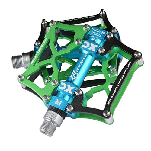 (RockBros Mountain Bike Pedals Platform Cycling Sealed Bearing Alloy Flat Pedals 9/16