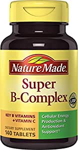 Nature Made Super B Complex Tablets Value Size 140 Ct