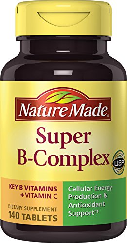 Nature Made Super B Complex + Vitamin C Tablets, 140 Count