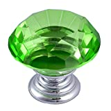 Green Kitchen Cabinets Yazer 25-Pack Green Clear 30MM/1.18inch Crystal Knobs for Cabinet,Drawer,Cupboard,Kitchen