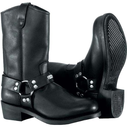 River Road Ranger Harness Men's Leather Harley Touring Motorcycle Boots - Black / Size 10