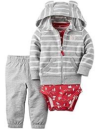 Carter's Baby Boys 3-Piece Striped Hoodie Set