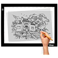Litup Light Box Light Pad 17.7 Inch A4 Size Tracing Light Box Drawing Light Board Light Table in Animation, Sketching, Tattoo Transferring–LPS4
