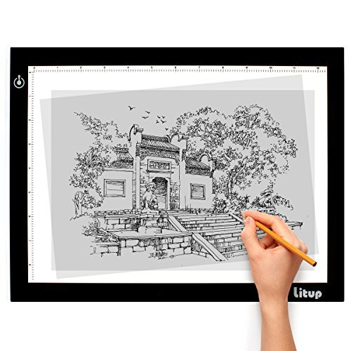 Litup Light Box Light Pad Inch A4 Size Tracing Light Box Drawing Light Board Light Table in Animation, Sketching, Tattoo Transferring–LPS4 by Litup