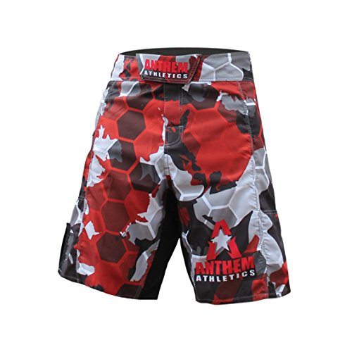Anthem Athletics RESILIENCE Fight Shorts - Red Camo Hex - 34""