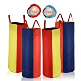 "Potato Sack Race Bags 34"" Hx20 W(Pack of 4) with Three-Legged Race Outdoor Activities for Family Gatherings Games"
