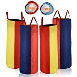 """Sumapner Potato Sack Race Bags 34"""" Hx20 W(Pack of 4) Three-legged Race Outdoor Activities Family Gatherings Games"""