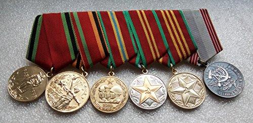 Set 6 Soviet Army USSR Russian Medals Veteran WW II Red Army RKKA Communist Bolshevik Period Cold war era Militaria Soldiers Star