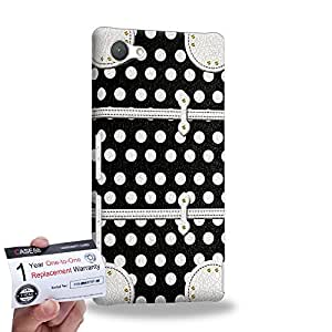 Case88 [Sony Xperia Z5 Compact / Mini] 3D impresa Carcasa/Funda dura para & Tarjeta de garantía - Art Fashion Black Dot Luggage