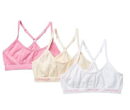 394963a6a1ab8 Amazon.com  Calvin Klein Girl s Seamless Racerback Crop Bralette ...