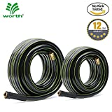 #9: Worth Garden KINK FREE Watering GARDEN HOSE, 12 YEARS WARRANTY - BEST HOSE for HOUSEHOLD & PROFESSIONAL USE