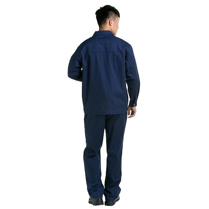 azul oscuro con anaranjado borde traje chaqueta de trabajo protección uniforme chaqueta soldador soldadura soldador ropa 190: Amazon.es: Ropa y accesorios
