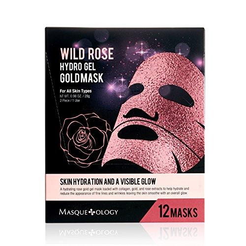 Masqueology Wild Rose Hydro Gel Gold Mask