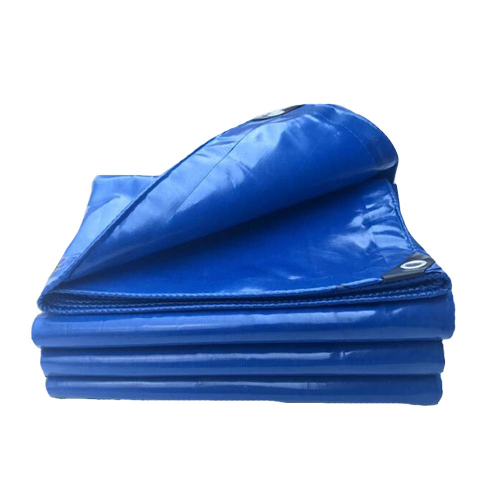 DALL ターポリン タープ 防水 ヘビーデューティー 耐火布 アウトドア キャンプ UVプロテクト 450g /m² (色 : 青, サイズ さいず : 5×6m) 5×6m 青 B07L4B97XY