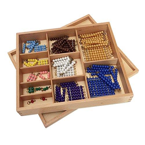 Montessori Colored Bead Chains & Squares