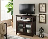 Kings Brand Furniture Walnut Finish Wood TV Stand Storage Console - Best Reviews Guide
