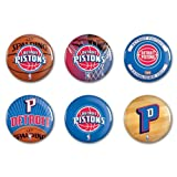WinCraft NBA Detroit Pistons WCR67458310 Round Button (6 Pack), 2''