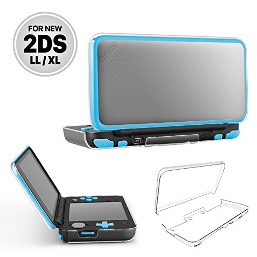 Rubber Crystal Case Generation (TNP New Nintendo 2DS XL LL Case - Crystal Transparent Hard Shell Protective Case Cover Skin Ultra Clear Anti-Scratch Accessory for New 2017 Nintendo 2DS XL LL)