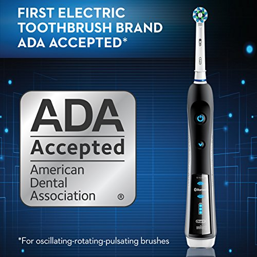 Oral-B 7000 SmartSeries Rechargeable Power Electric Toothbrush with 3 Replacement Brush Heads, Bluetooth Connectivity and Travel Case, Amazon Dash Replenishment Enabled by Oral-B (Image #10)