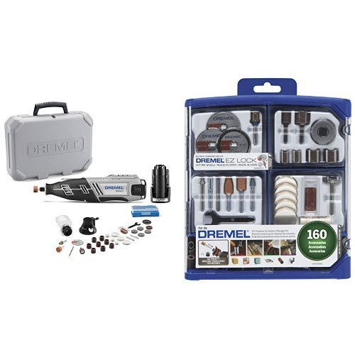 Dremel 8220-2/28 12-Volt Max Cordless Rotary Tool with 160-Piece Accessory Kit