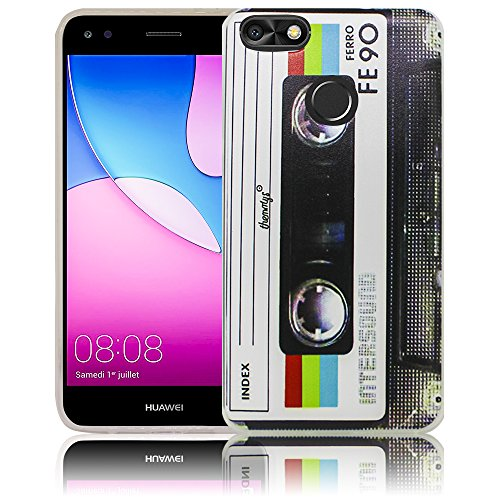 Huawei Y6 Pro 2017 / Huawei P9 Lite mini Cassette casete Funda protectora de silicona Funda protectora suave Funda protectora contra el parachoques Funda protectora para teléfono móvil Funda protector Cassette casete