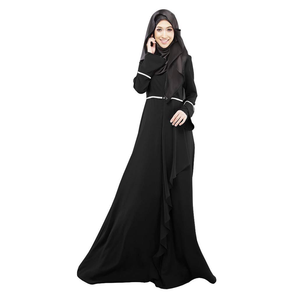 83cd7d62 OOEOO 2019 New Women Muslim Loose Solid Color Robe Clothing Abaya Islamic  Arab Kaftan Dubai at Amazon Women's Clothing store: