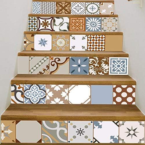 Kang Vinilo Decorativo Pegatina Pared Cristal Puerta Pared Pegatina Decoración Azulejos Escaleras Pasillos escaleras,100x18cmx6Chip: Amazon.es: Hogar