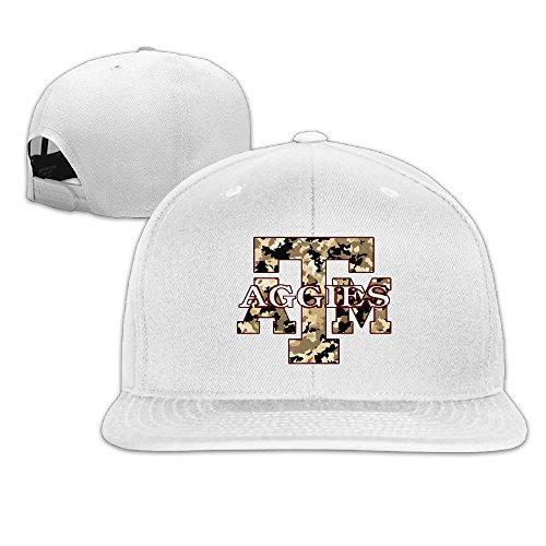 [ElishaJ Flat Brim Texas A&M University Trucker Caps White] (Lsu Mascot Costume)