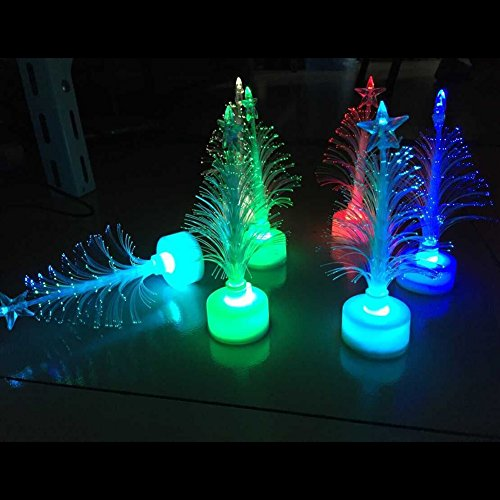 7 Color Christmas Xmas Tree Fiber Optic Led Night Light in US - 5