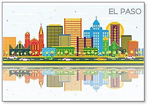 El Paso Texas City Skyline classico frigorifero