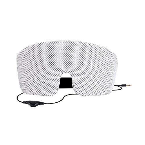 AGPTEK Sleep Headphones Eye Mask with Built-in Headsets, Adjustable Sleepphones Perfect for Bedtime Travel Meditation, White (Best Pills For Staying Hard)
