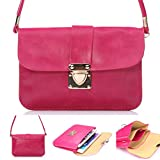 Universal Cell Phone Cross-body Purse,Dual Layers Shoulder Bag Soft PU Leather Carrying Cases