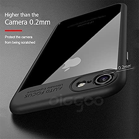 STYLUSH AUTO Focus Series Bumper Soft Silicone Frame Hard Transparent Back Cover ForAPPLE iPhone 5/5S Phone  Black Cases   Covers