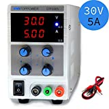 Variable DC Power Supply Adjustable 30V 5A Switchable 110/220V with Alligator Cable by SKYTOPOWER