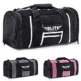 Elite Sports New Item Ventilated Mesh Duffel Gym Bag … (Black/White, Large)