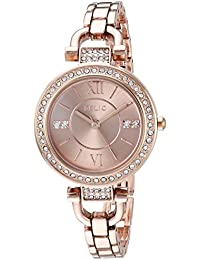 Women's 'Leah' Quartz Stainless Steel and Alloy Casual Watch, Color:Rose Gold-Toned (Model: ZR34415)