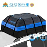 Copsrew Upgrade 20 Cubic ft Car Roof Bag & Rooftop Cargo Carrier 100% Waterproof Heavy Duty RoofBag. Fits All Vehicle with/Without Rack. 4+2 Door Hooks Included