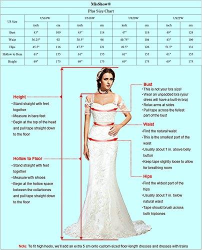 MisShow 2018 Long Sleeve Plus Size Mermaid Formal Evening Dresses ...