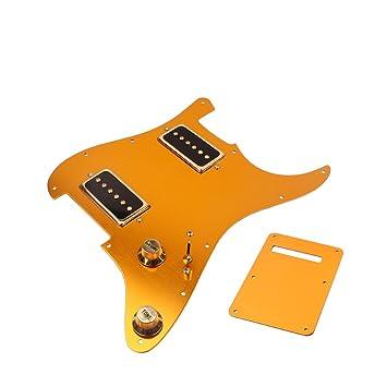 Gazechimp Pickup Pickguard de 3 Capas Placa Trasera Repuesto Guitarra Eléctrica Anti-scratch Fender Stratocaster: Amazon.es: Instrumentos musicales